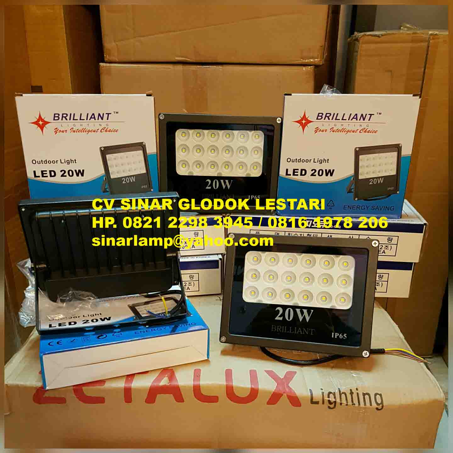 Lampu Sorot Led Spot 20 Watt Brilliant Emergency