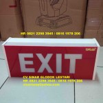 Emergency EXIT Box Warna Merah